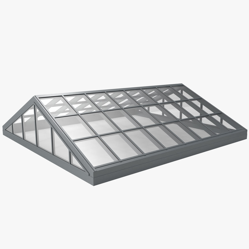 Commercial skylight 3d model for 25 000 pyramid game template