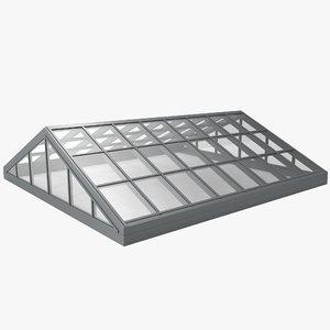 commercial skylight 3d model