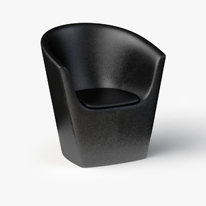 3ds leather arm chair