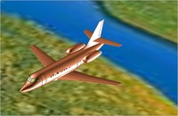 dwg dassault falcon 2000s aircraft