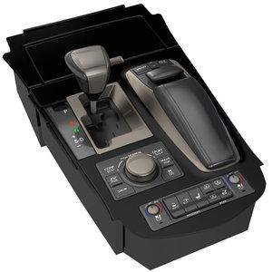 gear gearshift shift 3d model