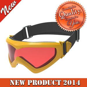 3d model skiing goggles