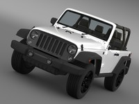 3d jeep wrangler willys 2014 model