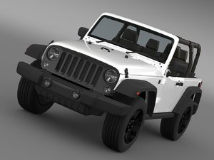 3d jeep wrangler willys 2014 model