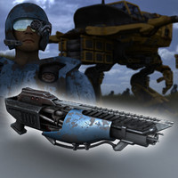 laser gun 3d model