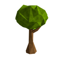 Stylized Low Poly Tree