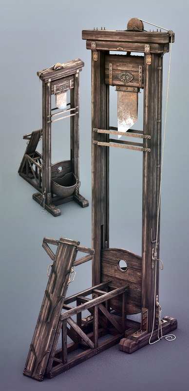 3ds max guillotine