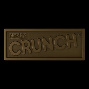 3d chocolate crunch bar model