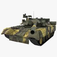Soviet Main Battle Tank T 80 Rigged