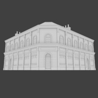 european building exterior obj
