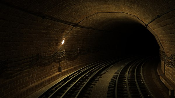 train curve tunnel 3d max