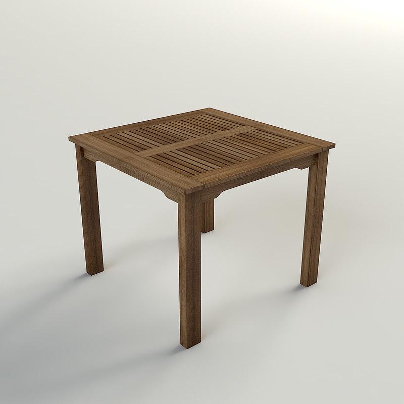 wood table ipanema 3d max