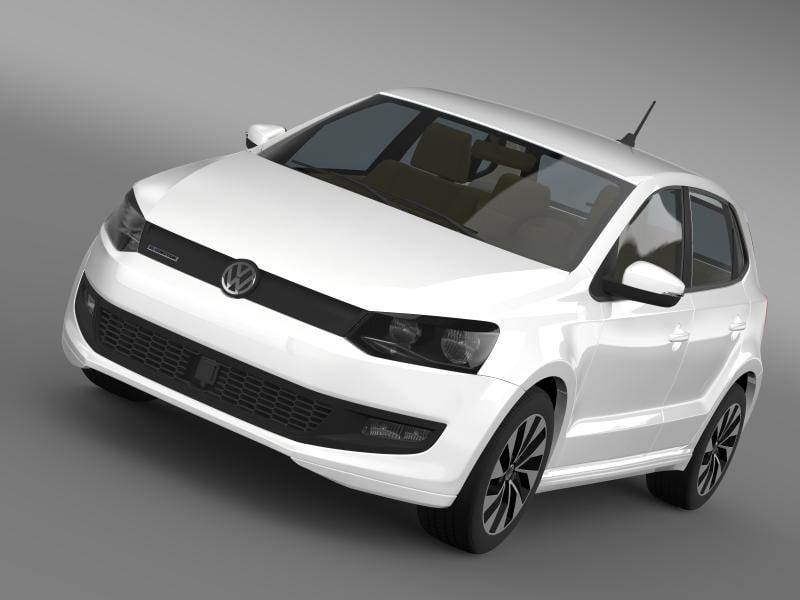 3d c4d volkswagen polo bluemotion 5d