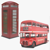 UK Bus & Phone Booth
