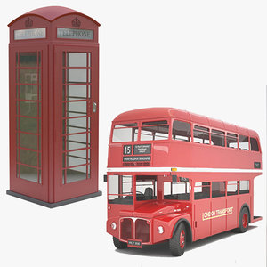 classic routemaster red 3d x