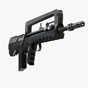 3ds max famas submachine gun