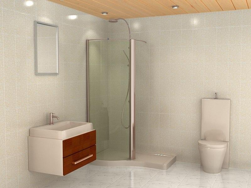 3d model bath room