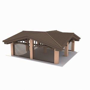 carport 3d max