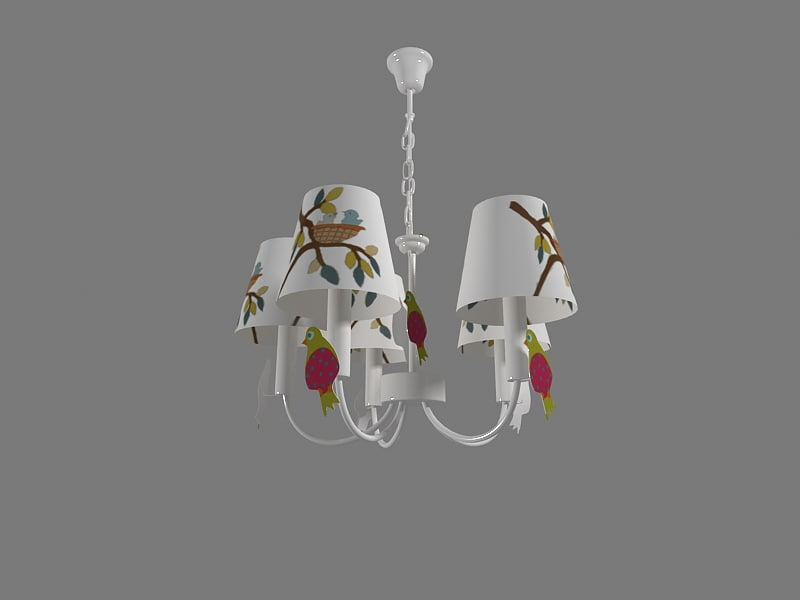 chandelier children room 3d max