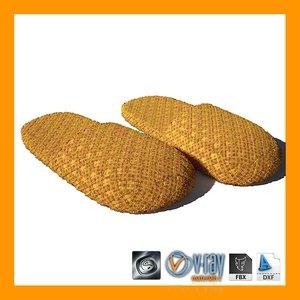 slippers 01 3d model