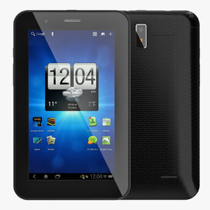 3d model of android little pc tablet