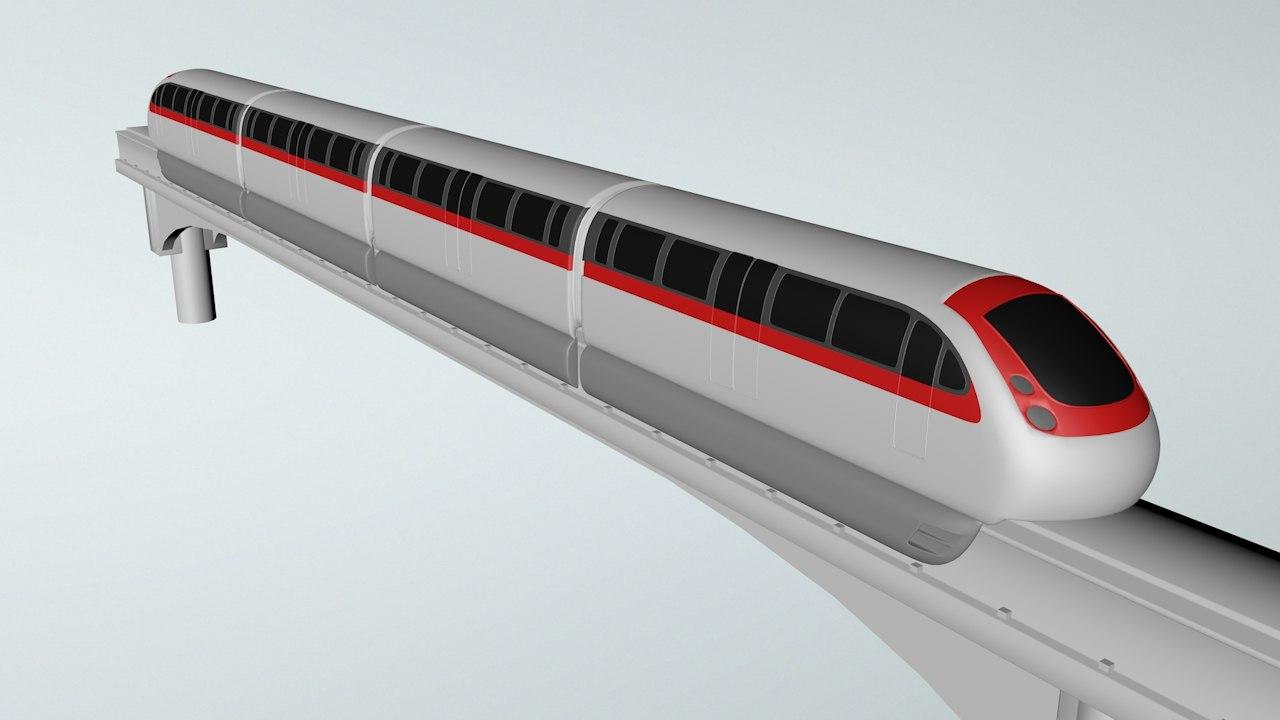 3ds train monorail