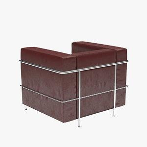 lc armchair 3d max