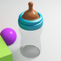 baby bottle 3d max
