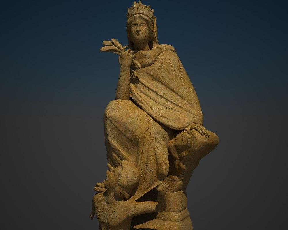 greek goddess 3d model