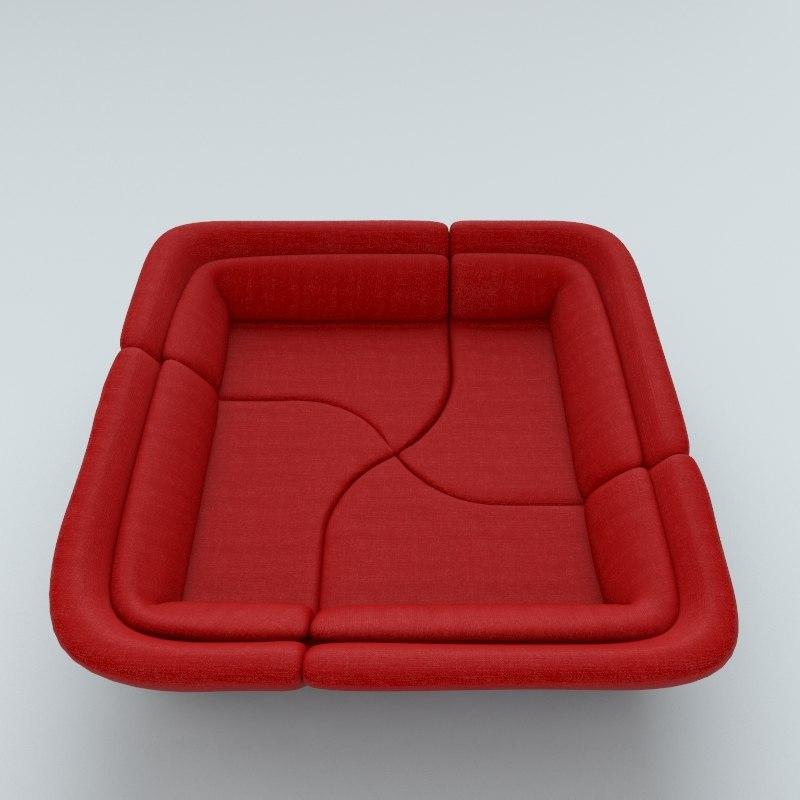yang sofa 3d max