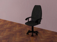 3d arm-chair kompyutera model