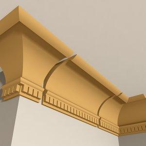 interior cornice molding 3d dxf