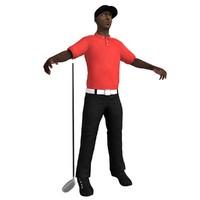 golf golfer 3d model