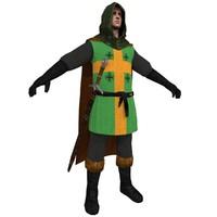 3d medieval crusader model