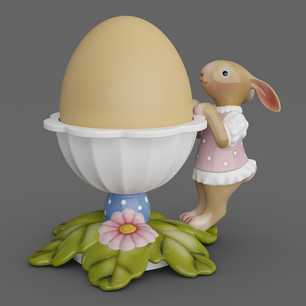 egg cup leaves bunny max