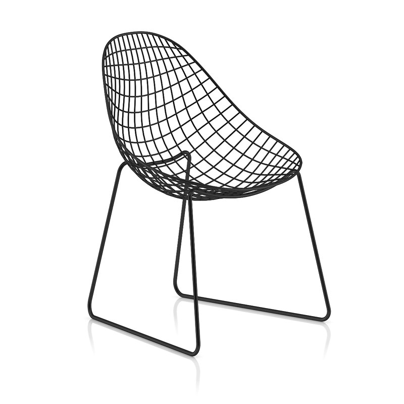 metal wire chair 3d