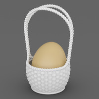 3ds max wicker basket single egg