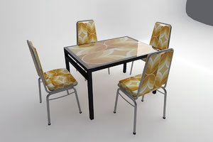 simple cafe furniture 3d max