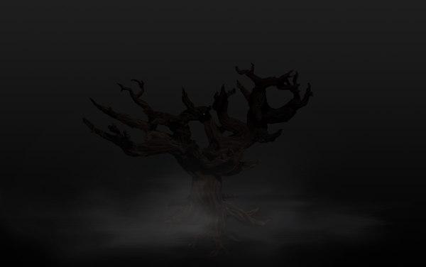 3d model creepy tree