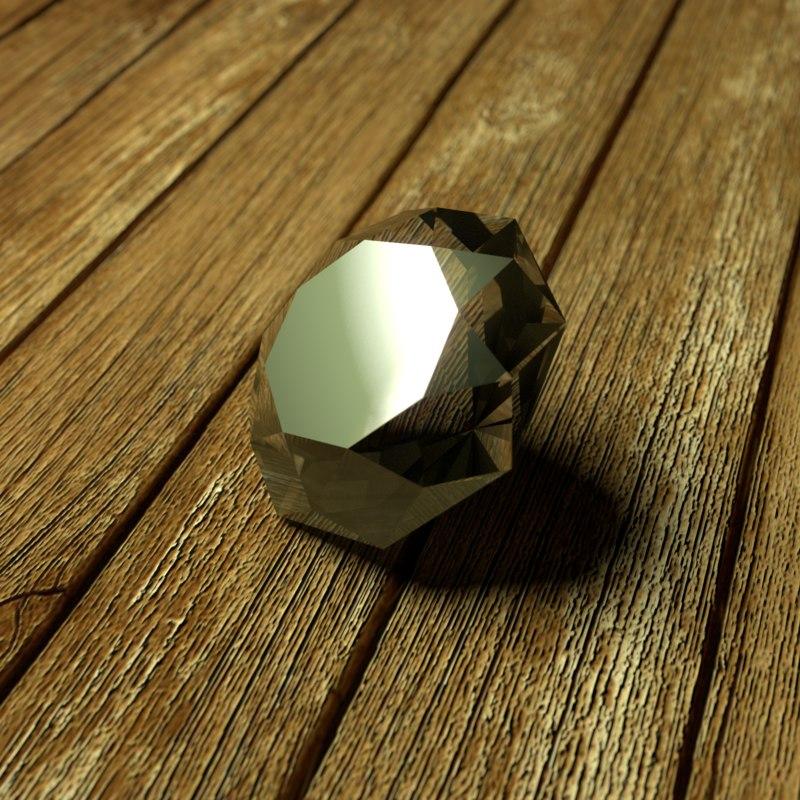 3d shiny gemstone
