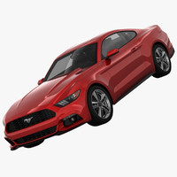 3d model of mustang pony coupe