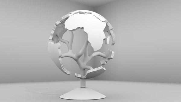 printable globe 3d 3ds