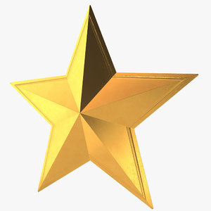 3d model golden star
