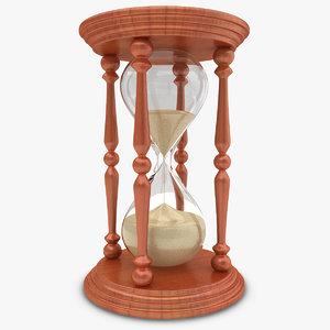 3d realistic hourglass model