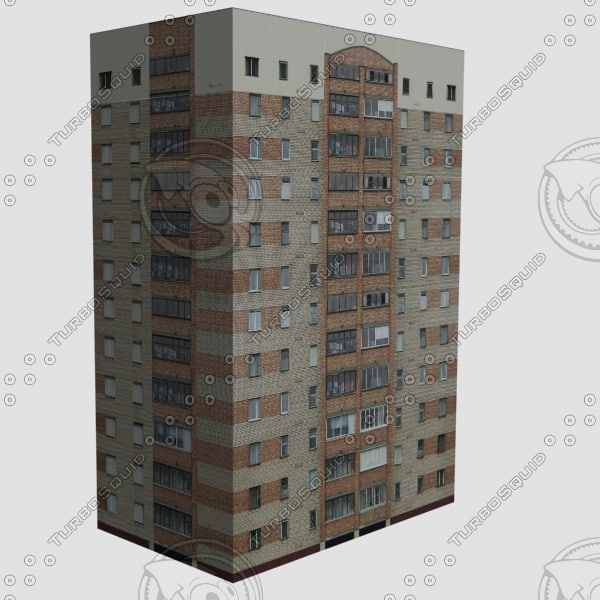 3d model apartments building
