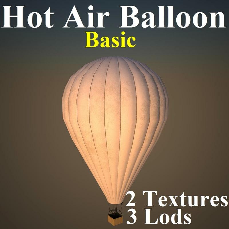 3d model hot air balloon basic