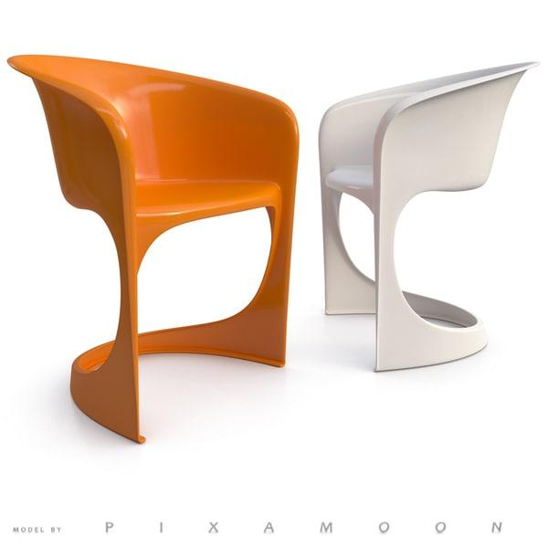 3d model 291 cantilever chair
