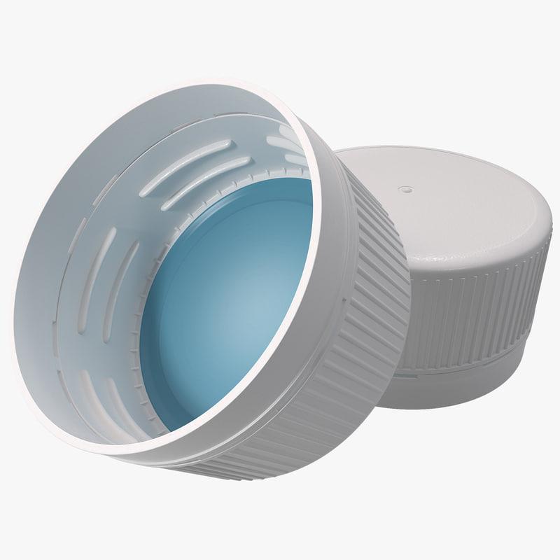 3dsmax plastic bottle screw cap