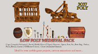 Lowpoly Medieval Pack Game Ready Collection