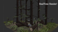 tall forest 3d obj